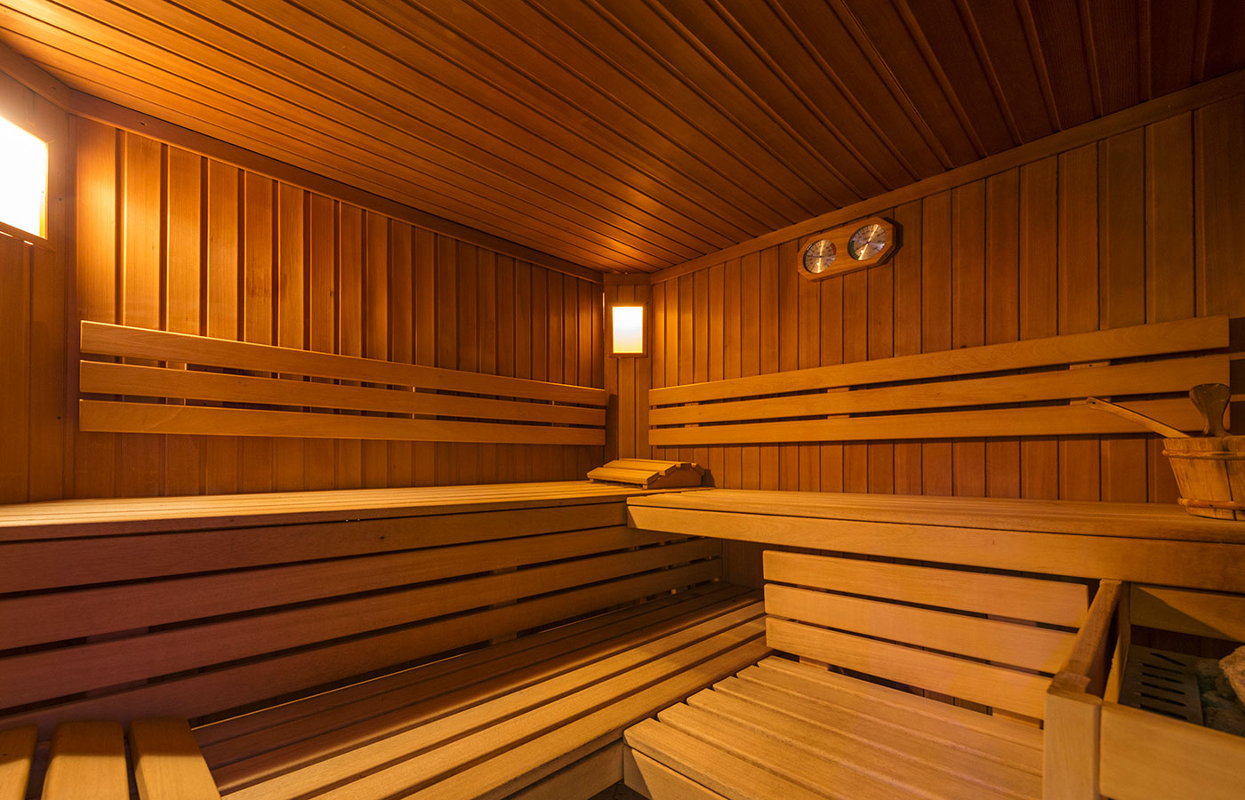 Finnish sauna of Hotel Alpino