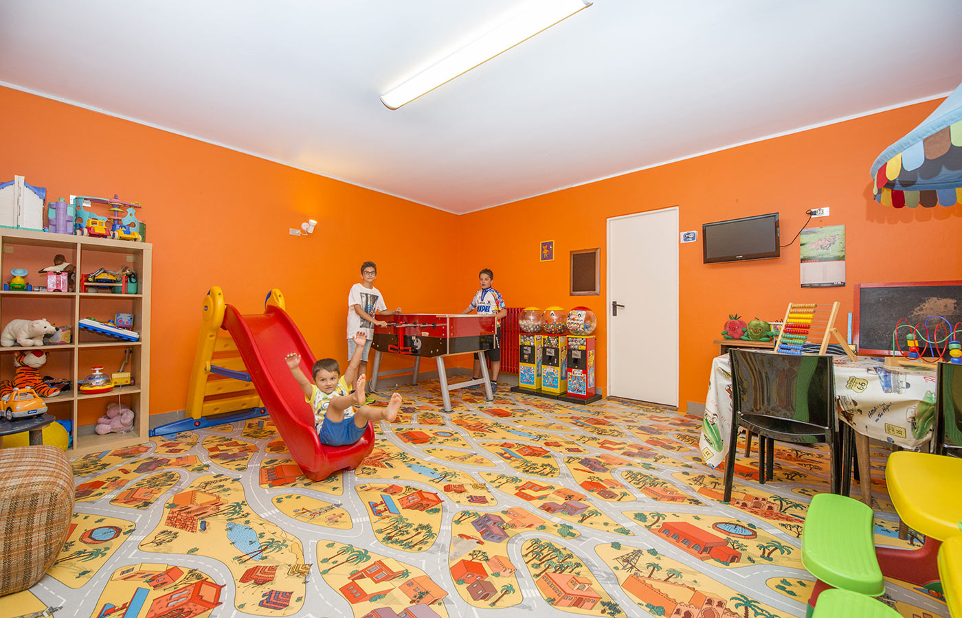 The playroom for children at Hotel Alpino